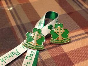 Irish show pins